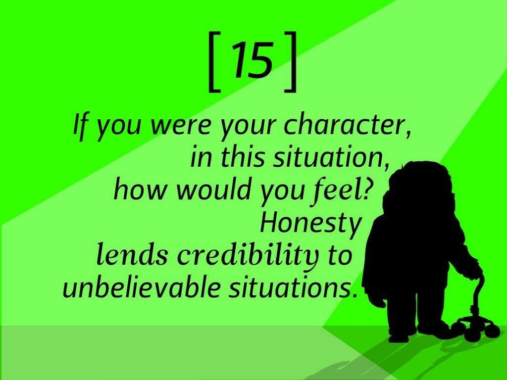 Pixar rules 15 character feel honesty