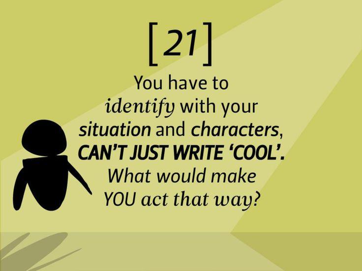 Pixar rule 21 empathy writing characters