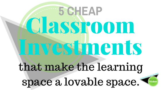 Classroom investment learning space alternative seating color lighting home