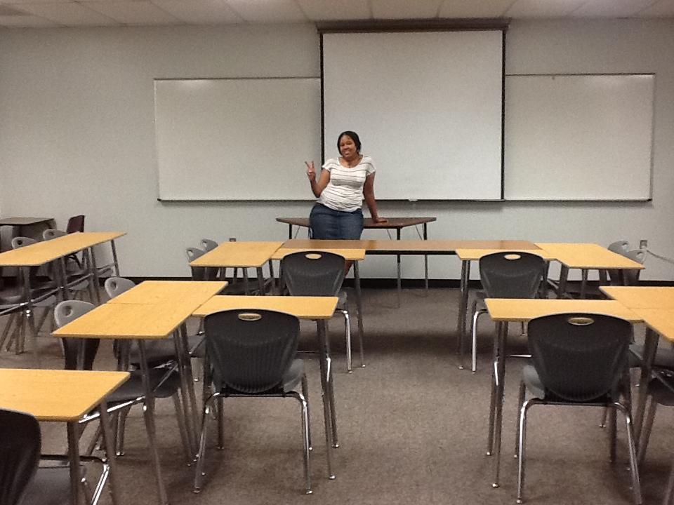 Classroom desks empty in T3 designs