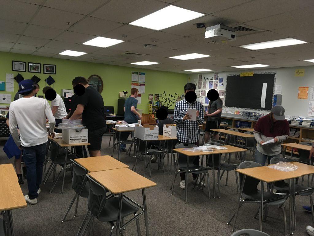 Classroom decor desks students working
