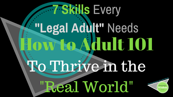 7 skills to thrive as an adult blue black and green feature design