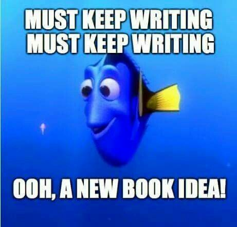 must keep writing ooh, a new book idea Dory from Finding Nemo