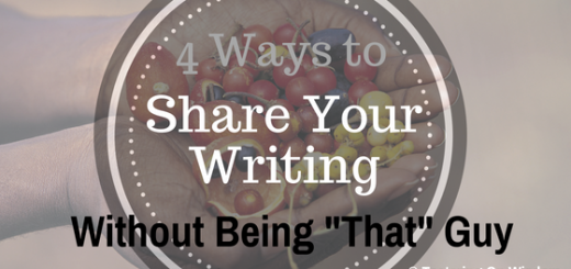 4 ways to share your writing without being that guy feedback example tagline snippet