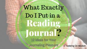 reading journal ideas