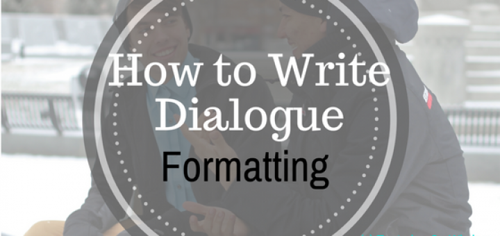 How to write dialogue formatting