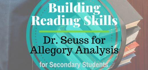 Building reading skills Dr. Seuss for allegory analysis for secondary students