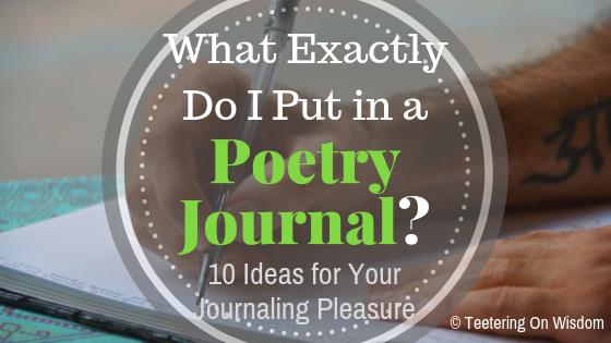 poetry journal ideas